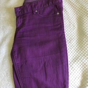 Express jeans purple